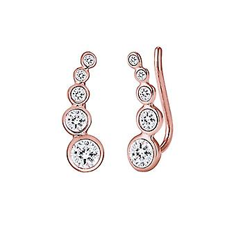 Elli Earrings women's pin in Silver 925 with White Crystal 0309990916