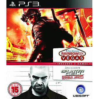 Ubisoft Double Pack - Rainbow Six Vegas and Splinter Cell Agent (PS3) - New