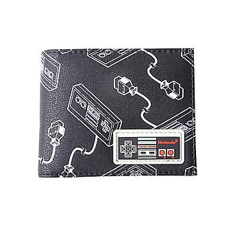 Nintendo Wallet NES Controller all over Rubber Patch new Official Black Bifold