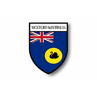 Sticker Adesivo Motorcycle Blason Bandiera Australia Regione Occidentale