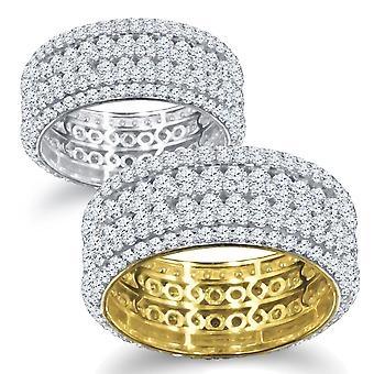 Anillo micro pave de plata Sterling 925 - CINCO ROW