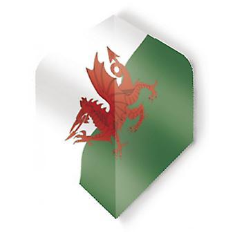 Unicorn Darts Maestro.100 World Flags Plus Flights Ultra Durable - Wales