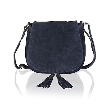 "Suede Small Flap Over 7.5"" Shoulder Bag"