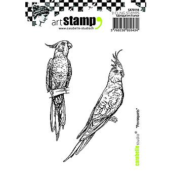 "Carabelle Studio ""Parrots"" Cling Stamp, A7"