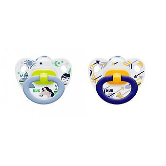 Pacifier NUK Classic Happy Days 0-6 mon Yellow-Green
