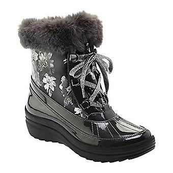 Anne Klein Womens Gayla Round Toe Mid-Calf Cold Weather Boots, Black/Grey, 5.5M