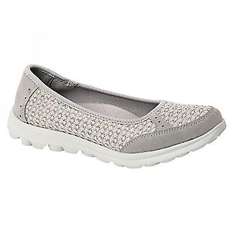 Boulevard L9548f Ladies Memory Foam Slip On Trainers Grey