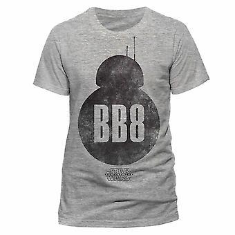 حرب النجوم الكبار للجنسين البالغين BB-8 صورة ظلية تصميم تي شيرت