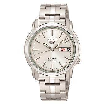 Seiko 5 Automatic Silver Stainless Steel Men's Watch SNKK65K1 38mm