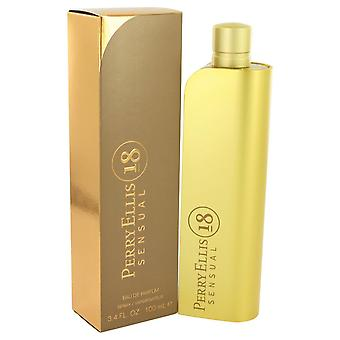 Perry Ellis 18 Sensual by Perry Ellis Eau De Parfum Spray 3.4 oz / 100 ml (Women)