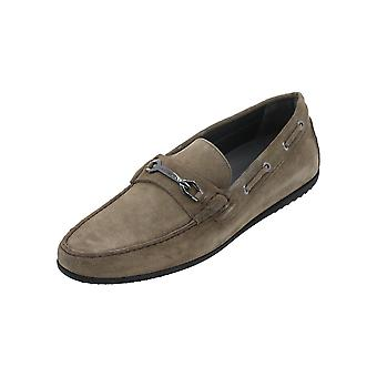 BOSS FLAIRONE_MOCC_SDHW 10193380 01 Men's Loafer Green Slip-Ons Business Shoes