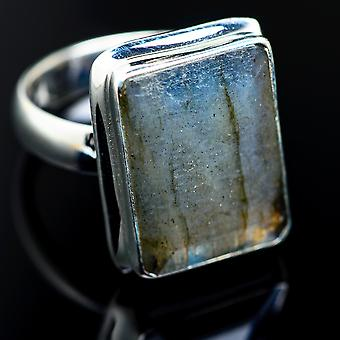 Labradorite Ring Size 7.25 (925 Sterling Silver)  - Handmade Boho Vintage Jewelry RING984708