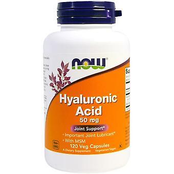 Now Foods Hyaluronzuur met MSM-capsules