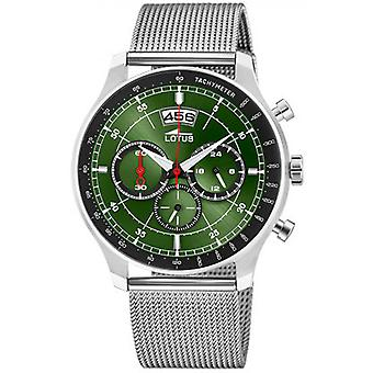Lotus 10138-2 CHRONO watch - klocka Chrono stål grön man