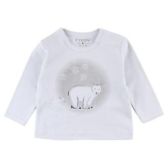 Small Rags Fixoni Blauwe Jongens T-Shirt Ijsbeer