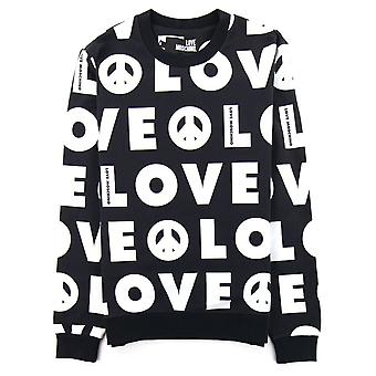 Liebe Moschino All Over Logo Jumper Schwarz