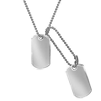 Jewelco London Sterling Silber Tag Halskette