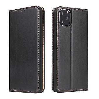 Para iPhone 11 Pro Max Caso couro flip wallet capa protetora com stand black