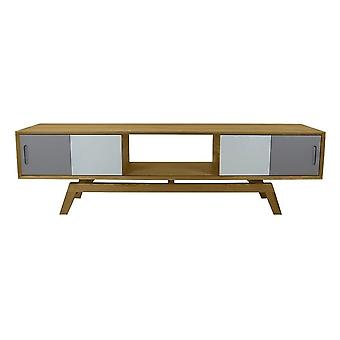 Fusion Living Danish Large Oak And Grey Media Unit