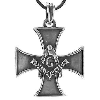 Pendant 111 iron cross - tin