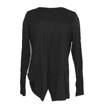 Anybody Women's Top Cozy Knit Crossover Black A292757