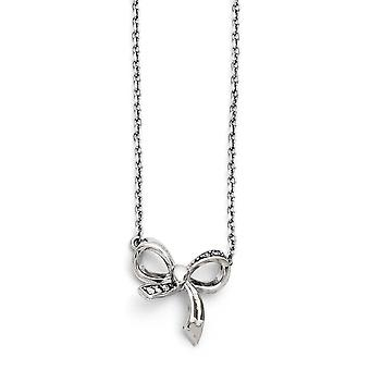 Anillo de resorte de acero inoxidable pulido CZ Cubic Zirconia arco de diamante simulado con 1.75pulgadas Ext. collar 16 pulgadas joyería