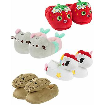 Womens 3D Novelty Slippers Ladies Size 3-8 (Pusheen, Unicorn, Strawberry, Groot)