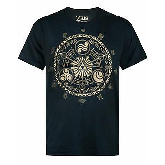 The Legend Of Zelda Runes Gamer Nintendo Black Men's T-shirt