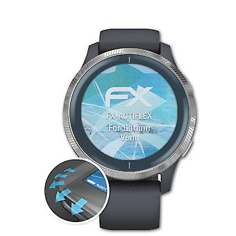 atFoliX 3x Protective Film compatible with Garmin Venu Screen Protector clear&flexible