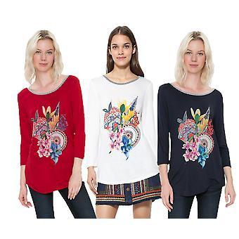 Desigual Women's Simba T-shirt met lange mouwen