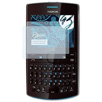 Bruni 2x Schutzfolie kompatibel mit Nokia Asha 205 Folie