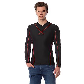 Men's Black Long Sleeve Trussardi T-shirt