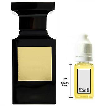 Tom Ford Yksityinen sekoitus tupakka vanille hänelle innoittamana tuoksu 30ml täyttö olennainen diffuusori öljy poltin tuoksu diffuusori