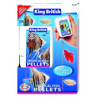 King British Tropical Fish Easy Clicker Feeder (Fish , Food , Warm Water)