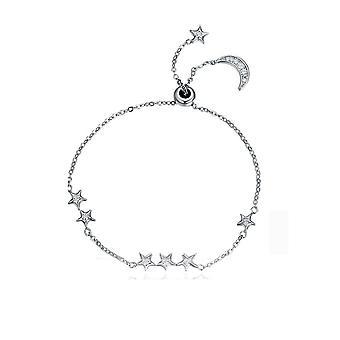 Damen Stern Armband geschmückt mit Crystal Swarovski Weiß und Silber 925/1000 8096