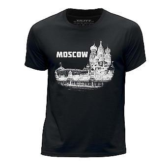 STUFF4 Guttens rund hals T-skjorte/Moskva landemerke skisse/svart