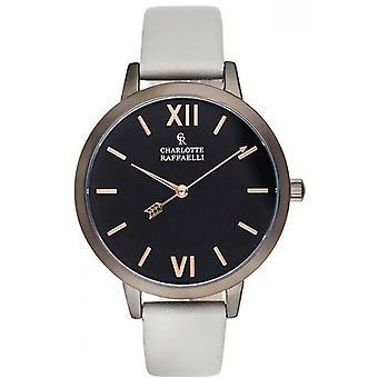Charlotte Rafaelli CRB043 horloge - watch armband leer grijs zwart vrouw