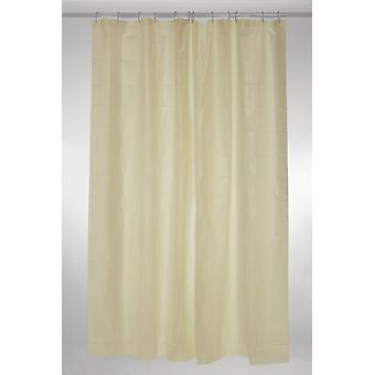 Cream Plain Polyester Shower Curtain 180 x 200cm