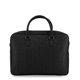Armani Jeans Original Men All Year Briefcase - Black Color 34402