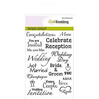 Craftemotions A6 Clear Stamps - Text – Wedding