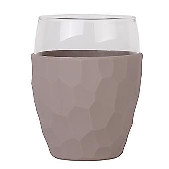 CREADYS Glass with Silicon Sleeve 450ml in Grey