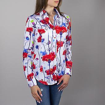 CLAUDIO LUGLI Blommig trädgård skjorta