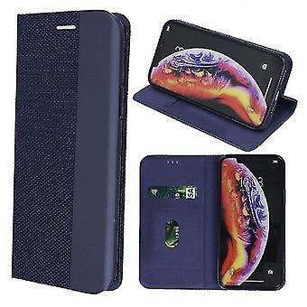 Samsung Galaxy A80-älykäs Senso kotelo mobiili lompakko-tummansininen