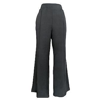 Anybody Women's Pants Regular Plush Terry Wide Leg Pants Black A345170