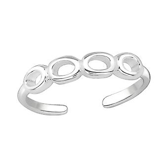 Circles - 925 Sterling Silver Toe Rings - W20984x