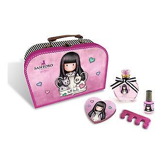 Women-apos;s Parfum Set Tall Tails Gorjuss EDT Pink (5 Pcs)
