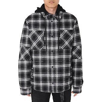 Off-white Omea236e20fab0011000 Männer's schwarze Baumwolle Shirt