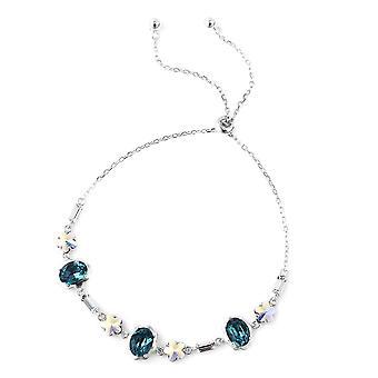 "J Francis Made met Swarovski® Zirconia, Simulated Crystal Bracelet 6.5"" Zilver"
