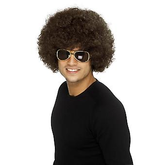 Funky Afro 70s parochňa Afrohead Brown