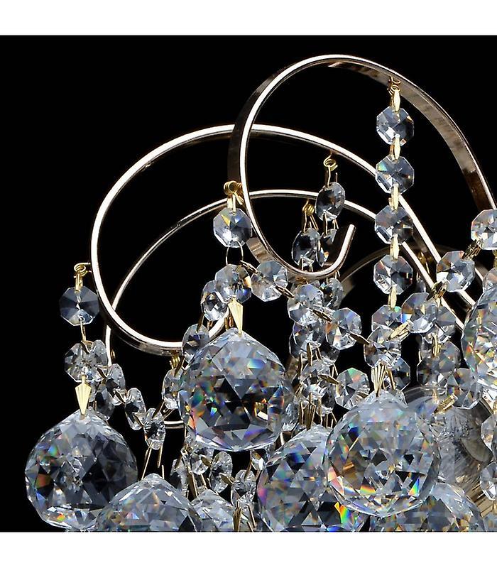 Ceiling Light Golden Crystal 6 Bulbs 40 Cm